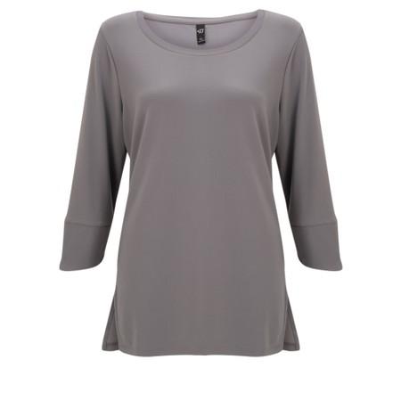 Focus 3/4 Sleeve Top - Grey