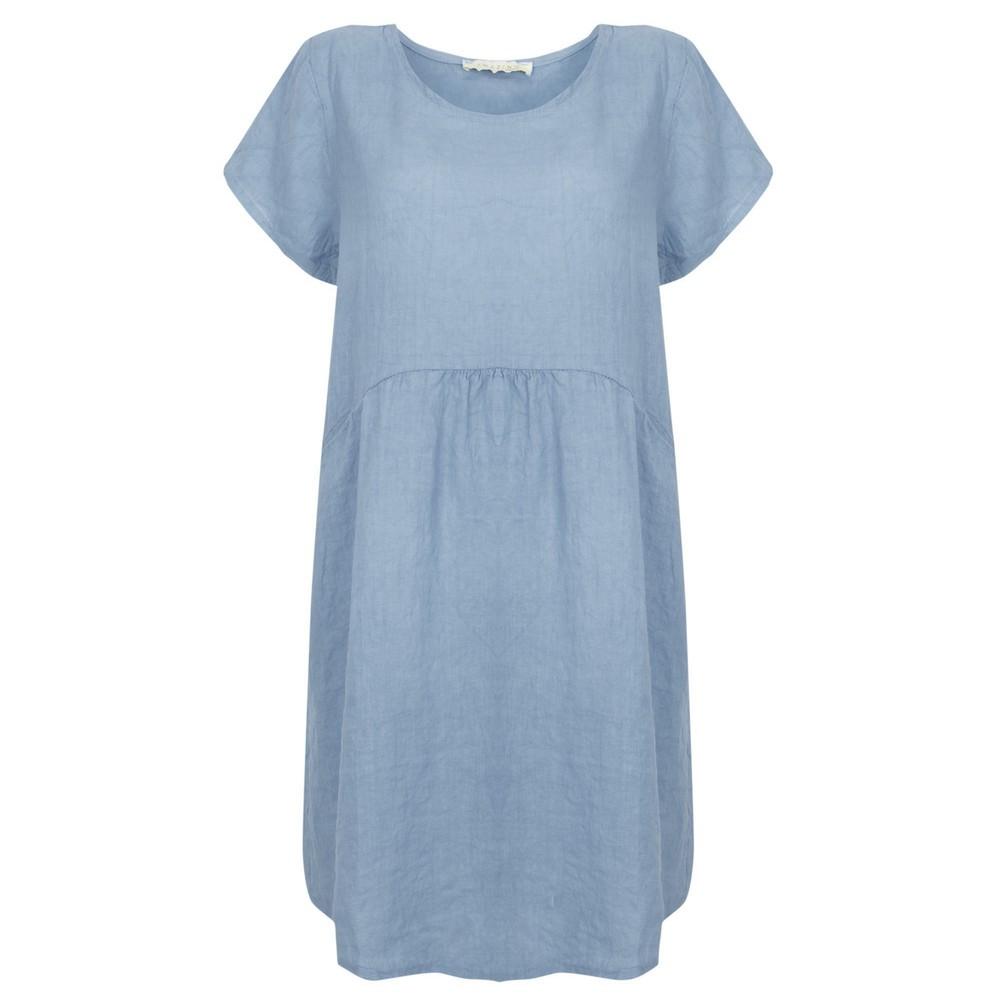 Amazing Woman Lexia Linen Dress  Denim Blue