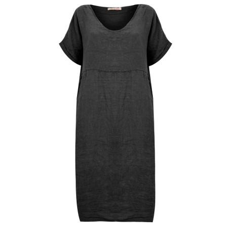 Amazing Woman Tesa Midi Black Linen dress - Black