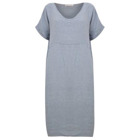 Amazing Woman Tesa Midi Linen dress  - Blue
