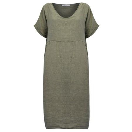 Amazing Woman  Tesa Midi Linen dress  - Beige