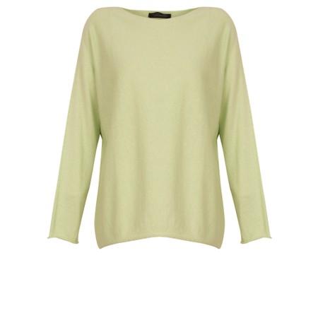 Fenella  Liberty Fine Cotton Slub Jumper - Green