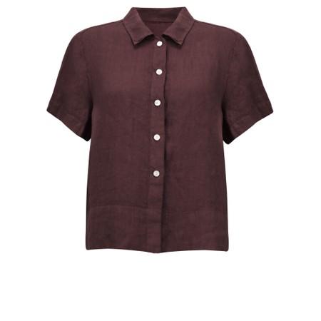 Amazing Woman  Marilyn Boxy Linen Shirt - Purple
