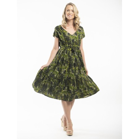 Orientique Rhodes Layered Dress - Green