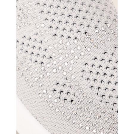 Livshu Lund Plain Knitted Sock Shoe - Blue
