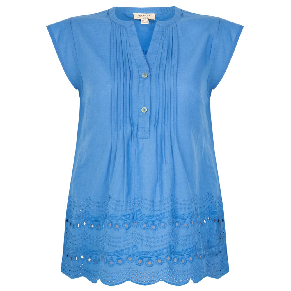 Orientique Broderie Top Blue