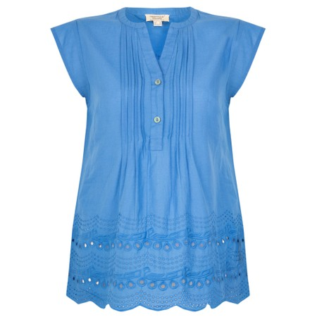 Orientique Broderie Top - Blue