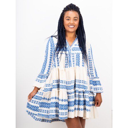 TOC Ella Greek Style Tunic Dress - Blue