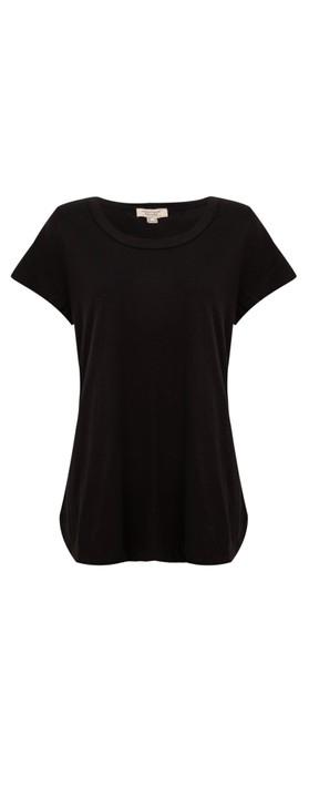 Orientique Essential Short Sleeve Top  Black