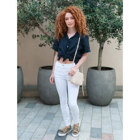 Amazing Woman  Marilyn Boxy Linen Shirt - Blue