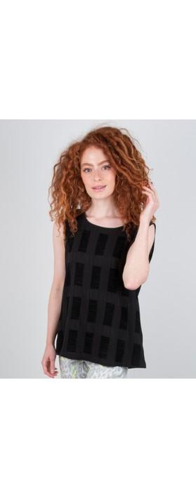 Focus Textured Sleeveless Top Black
