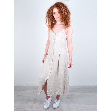 TOC Cammie Linen Easy Fit Dress  - Beige