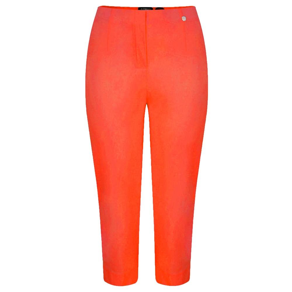 Robell Marie 07 Orange Cropped Trouser Orange 321