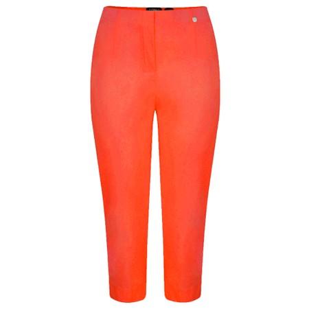 Robell Marie 07 Orange Cropped Trouser - Orange