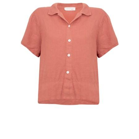 Amazing Woman  Marilyn Boxy Linen Shirt - Brown