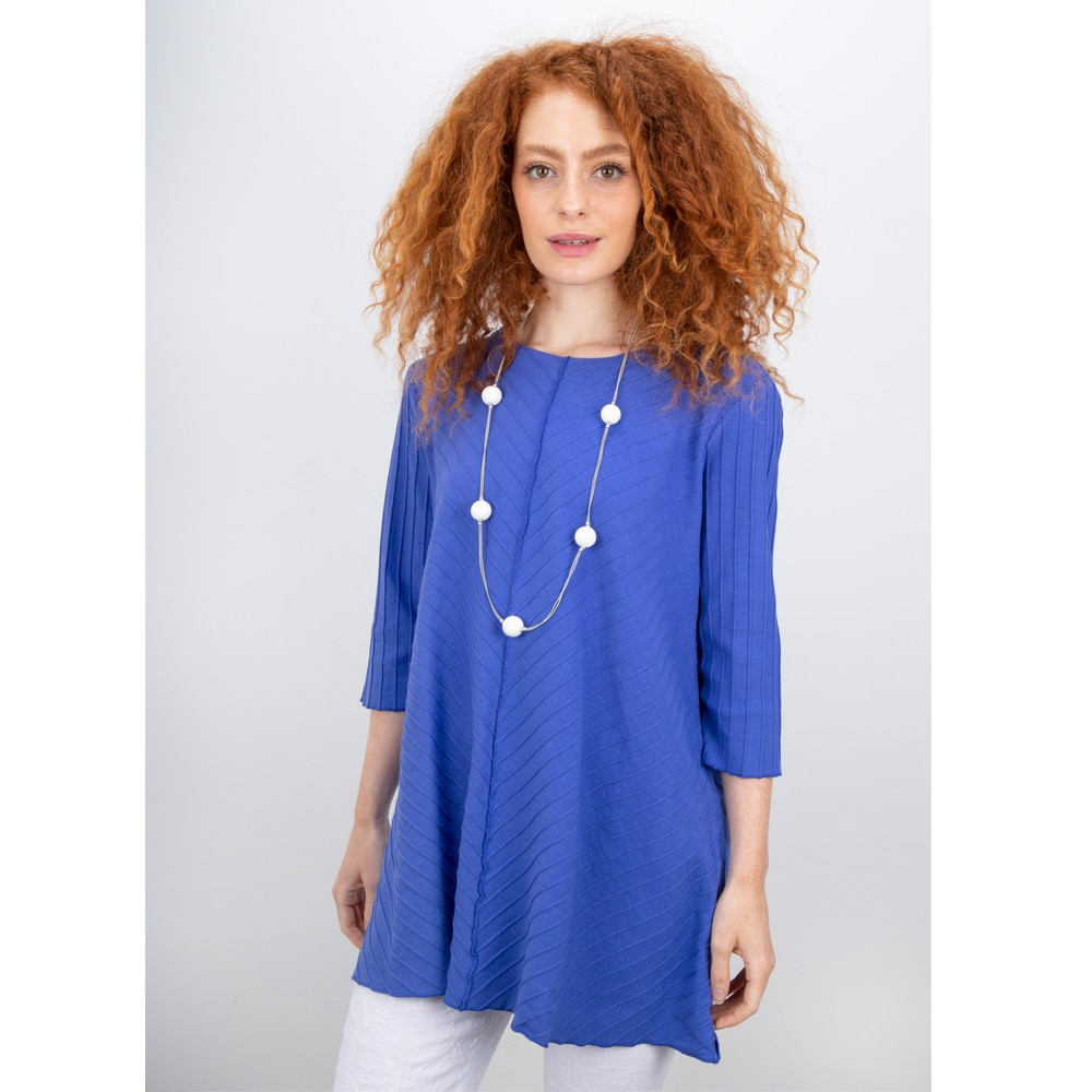 Focus 3/4 Sleeve A-Line Tunic Violet
