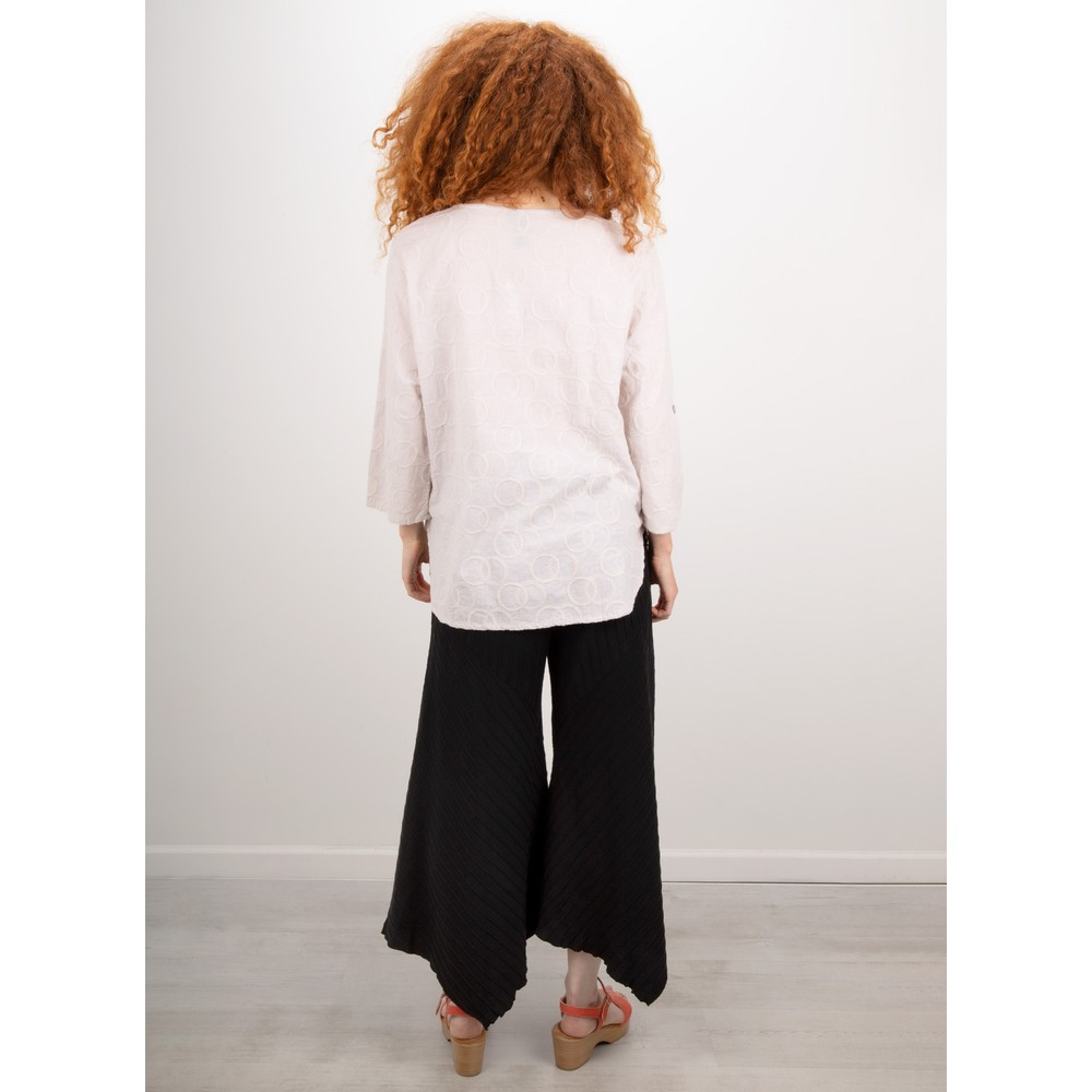 Focus Embroidered Circle Top Silver
