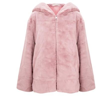 Jayley Faux Fur Oversized Hooded Jacket - Pink
