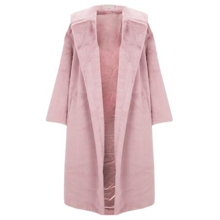 Jayley Long Faux Fur Shearling Coat - Pink