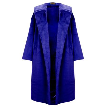 Jayley Long Faux Fur Shearling Coat - Blue