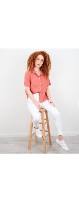 Amazing Woman Marilyn Boxy Linen Shirt Russet