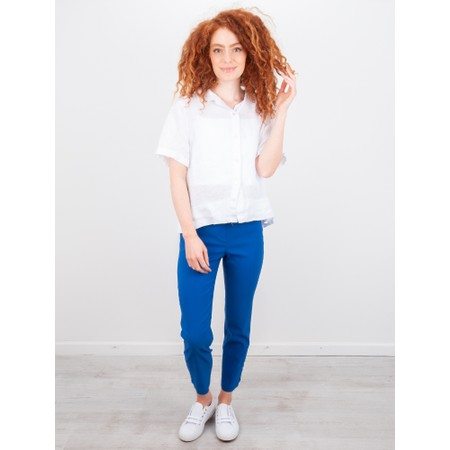 Amazing Woman  Marilyn Boxy Linen Shirt - White
