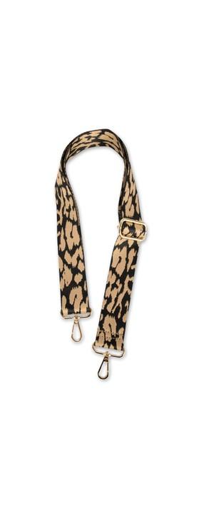 Kris-Ana Greta Bag Strap Animal Print Taupe