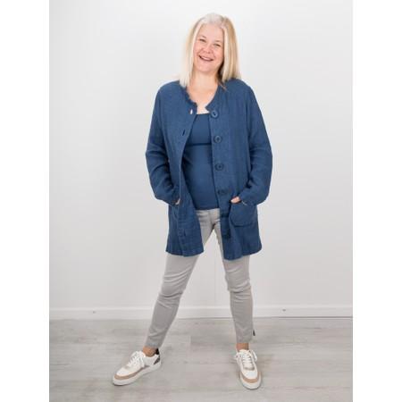 Thing Square Neck Bamboo Sleeveless T-Shirt - Blue