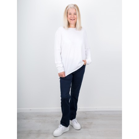Amazing Woman  Hidden Star Supersoft Easyfit Jumper - White