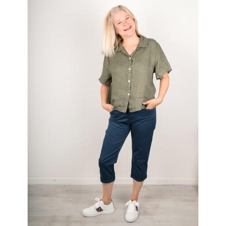Amazing Woman  Marilyn Boxy Linen Shirt - Beige