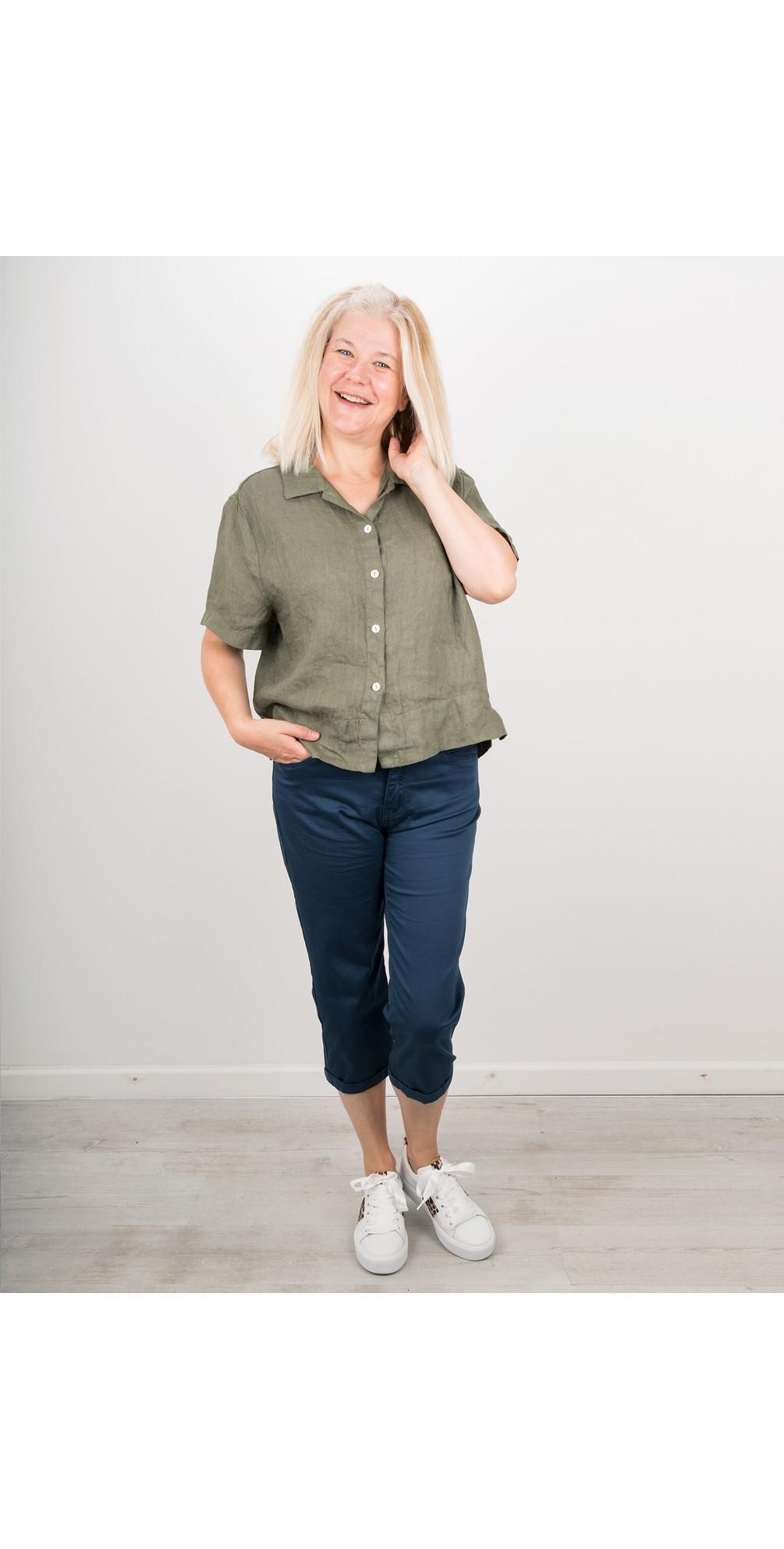Marilyn Boxy Linen Shirt main image