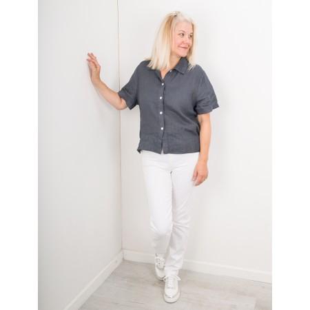 Amazing Woman  Marilyn Boxy Linen Shirt - Black