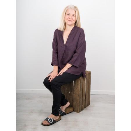 Amazing Woman  Lydia Linen Top - Purple