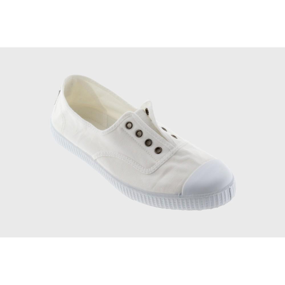 Victoria Shoes Dora Organic Cotton Washable No Lace Pump Blanco White 20
