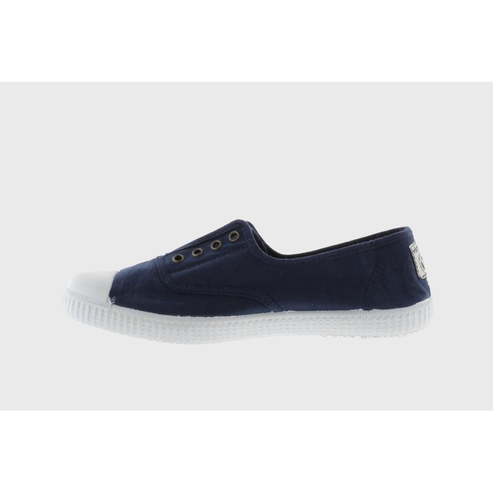 Victoria Shoes Dora Organic Cotton Washable No Lace Pump Marino Navy 30