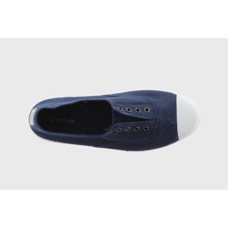 Victoria Shoes Dora Organic Cotton No Lace Pump - Blue