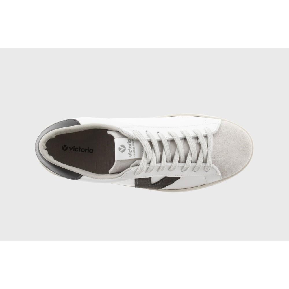 Victoria Shoes Berlin Classic Victoria V Leather Trainer Anthracita Grey 16