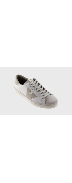 Victoria Shoes Berlin Classic Victoria V Leather Trainer Hielo IceWhite 22