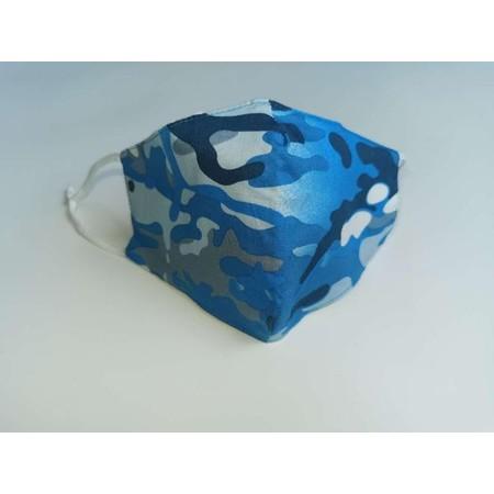 Jayley Camo Print Face Mask - Blue