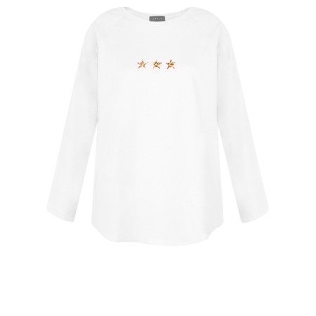Chalk Tasha Leopard Triple Star Top - White