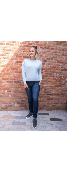 Amazing Woman Jodie Front Pocket Supersoft Knit Jumper Pale Blue