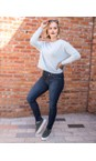 Amazing Woman Pale Blue Jodie Front Pocket Supersoft Knit Jumper