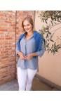 Amazing Woman Denim Blue Lydia Linen Top