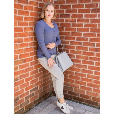 Robell  Nena 09 Ankle Zip Cropped Powerstretch Jeans - Grey