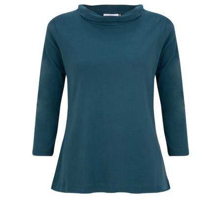Adini Sacha Soft Roll Neck Top - Green