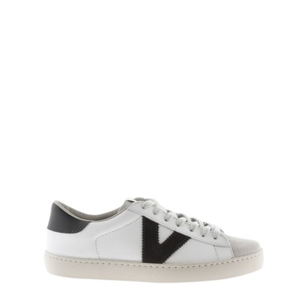 Victoria Shoes Berlin Classic Victoria V Leather Trainer - Grey