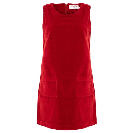 Amazing Woman  400 Velvet Pinafore - Red