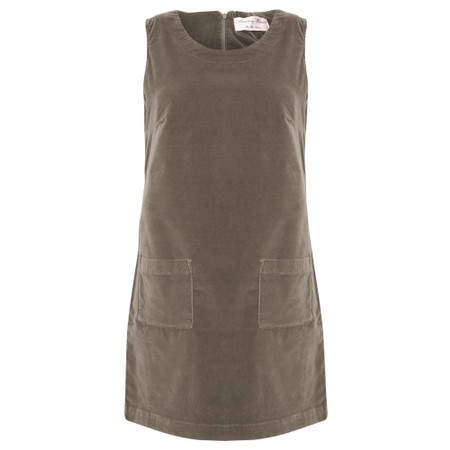Amazing Woman  400 Velvet Pinafore - Brown
