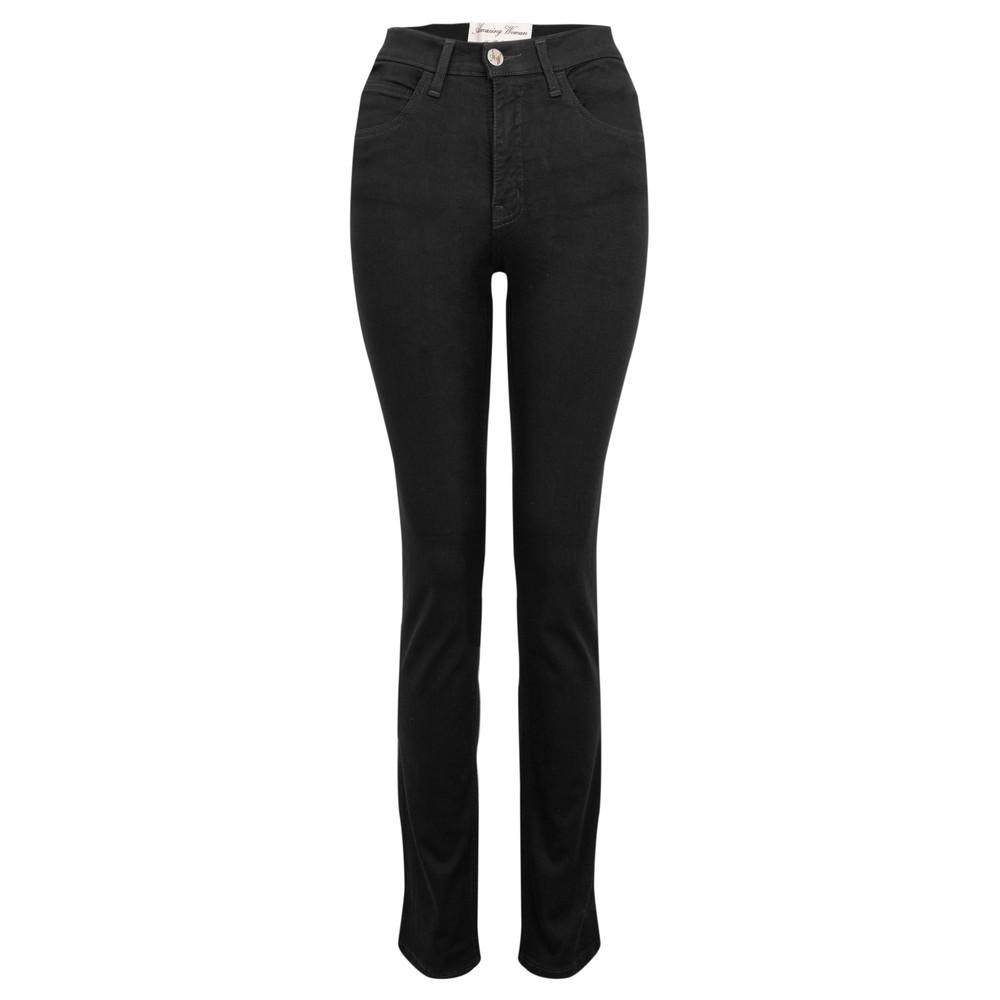 Amazing Woman 02 Guapa Straight Leg Slim Fit Jean Black