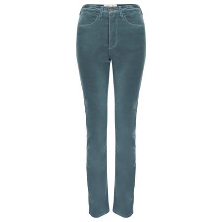 Amazing Woman  02 Velvet Straight Leg Jean - Green